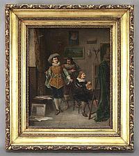 "Louis Hippolyte Mouchot ""In the Artist's Studio"""