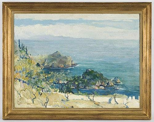 Charles Swyncop oil painting on canvas, depicting