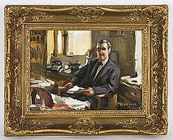 Nicholas Basil Haritonoff oil painting on canvas,