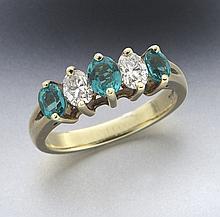 Honora 18K gold, emerald and diamond ring