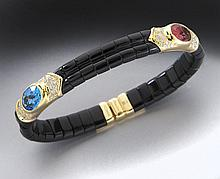 Marina Bulgari 18K, tourmaline, topaz and diamond