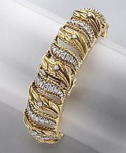Rolex 14K gold and diamond bracelet watch