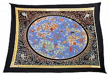 Hermès pleated silk