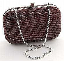 Judith Leiber red crystal minaudiere