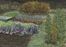 """Jean Claude Courtat """"Jardin aux choux violets"""
