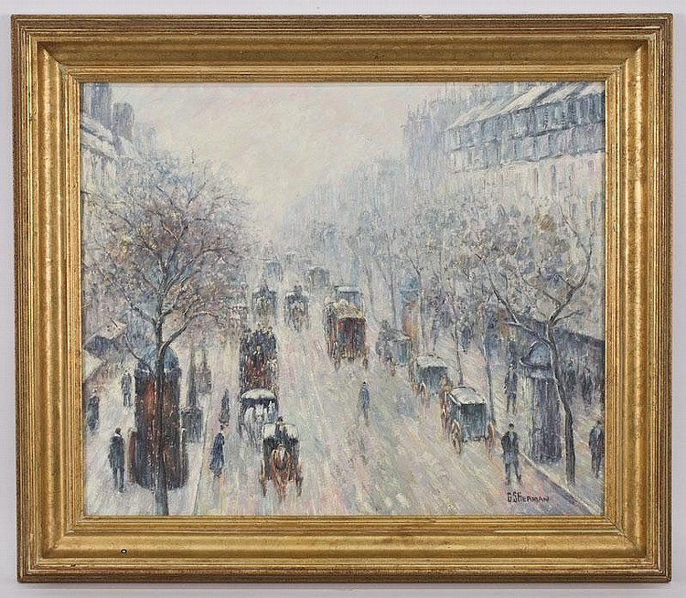 Gail Sherman Corbett oil painting on canvas,