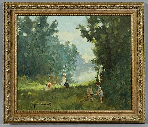 Eugenio Dumont oil painting on canvas, depicting a