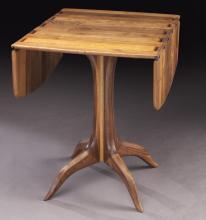 Sam Maloof walnut drop leaf table
