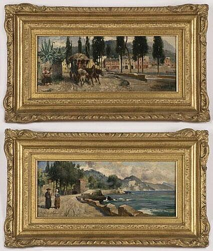 Pr. Thomas Eyre Macklin oil paintings on board,