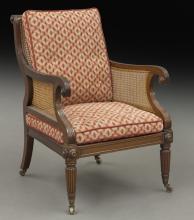 William IV mahogany library chair