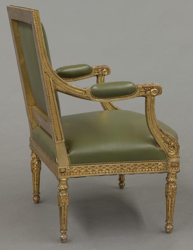 4 louis xvi style fauteuils. Black Bedroom Furniture Sets. Home Design Ideas