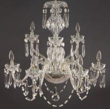 Waterford 9-light cut crystal chandelier,