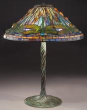 Tiffany style table lamp with dragonfly shade