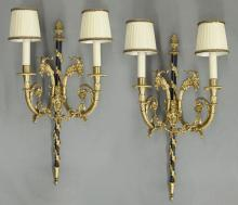 Pr. Continental gilded sconces