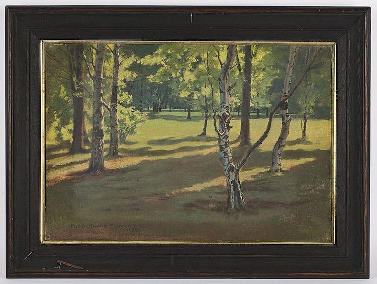 Frederick Oakes Sylvester oil painting on canvas,