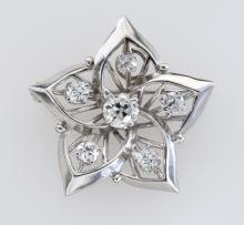 Belle Epoque 14K white gold and diamond brooch