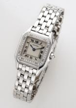 Cartier 18K gold and diamond Panthere wristwatch
