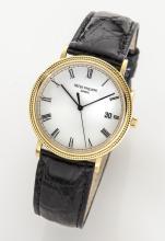 Patek Philippe 18K gold quartz wristwatch,