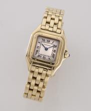 Cartier 18K gold Panthere bracelet wristwatch