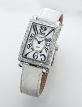 Charles Hubert stainless steel and diamond watch