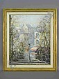 Signed Lucien DeLarue (LR) oil on canvas titled, Lucien Delarue, Click for value