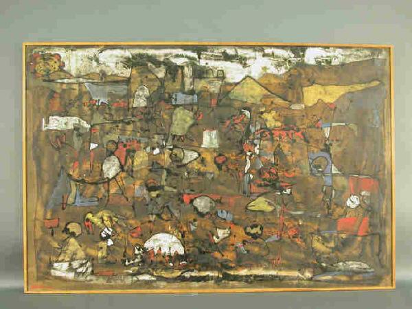 Signed Alberto Sartoris (LL) oil on canvas