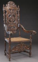 French carved arm chair