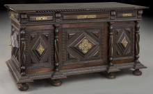 Portuguese carved rosewood desk