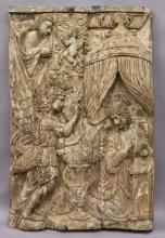 Late 19th C. carved wood panel