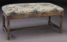 Vintage upholstered bench