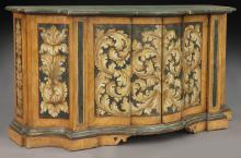 Early 19th C. Brazilian polychrome buffet cabinet,