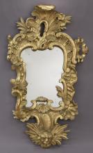 19th C. Spanish carved and giltwood mirror,