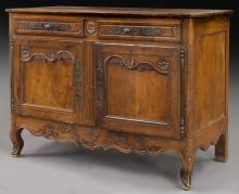 French carved walnut buffet