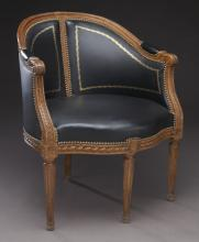 French leather bureau chair,