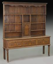 Late 18th C. English oak dresser,