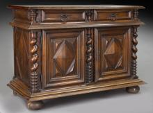 Louis VIII style carved walnut buffet,