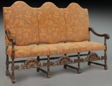 19th C. French carved canape,