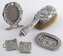 4 Pcs. Chinese Export silver inclu.: