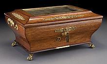 Alphonse Giroux ormolu mounted wooden casket