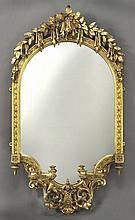 English carved gilt framed wall mirror,