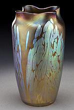 Loetz Glass oil spot vase