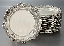 (29) Gorham Chantilly sterling bread plates.