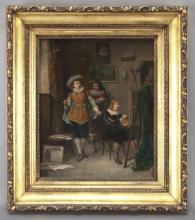 "Louis Hippolyte Mouchot, ""In the Artist's Studio"""