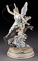 Meissen porcelain figural group with Pegasus