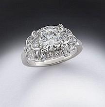 Art Deco platinum and diamond (EGL USA) ring