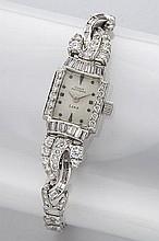 Retro Girard Perregaux platinum and diamond watch