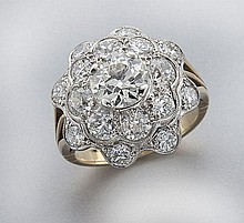 Edwardian/Art Deco 14K gold and diamond ring