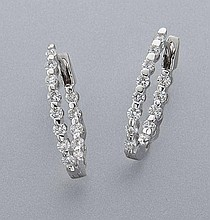 18K gold and diamond earrings