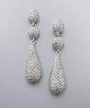 18K gold and diamond teardrop earrings