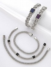 (5) John Hardy sterling and gem-set bracelets,